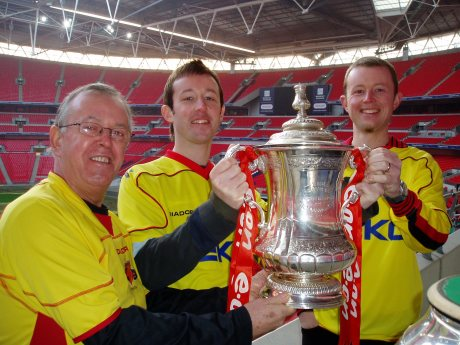 Dad, Steve and I with the FA cup (replica!)